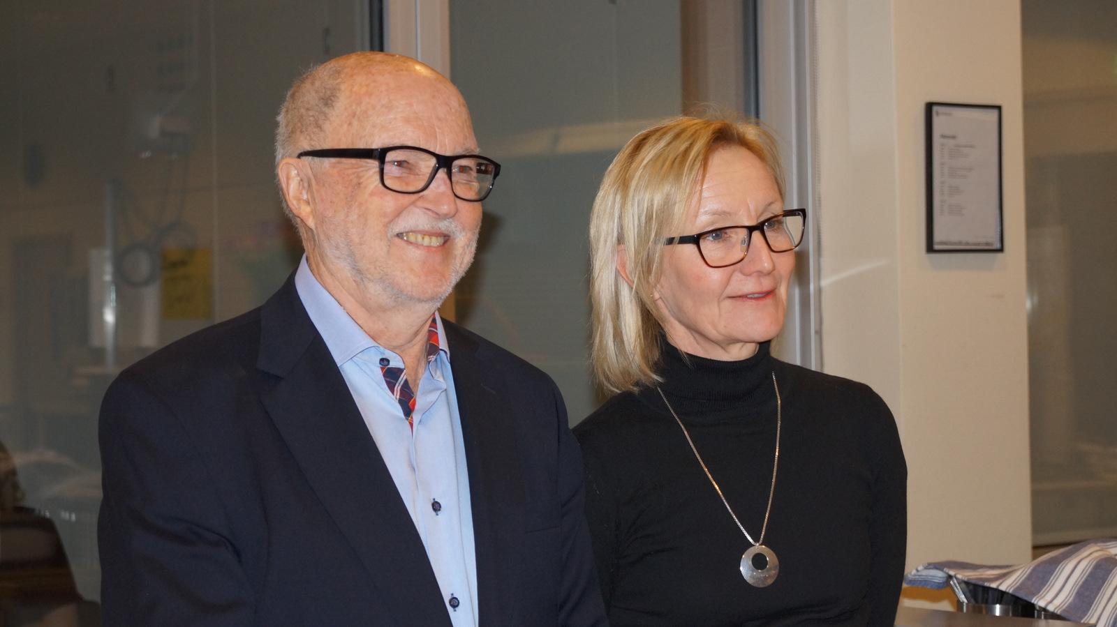 Håkan och Marie Ekström. Marie som höll ett mycket trevligt och känslofyllt högtidstal.